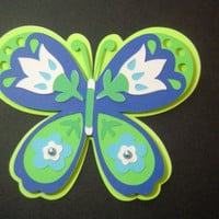 Mother's Day Butterfly Card in Blues and Greens -  Cards for Mom - Mother's Day