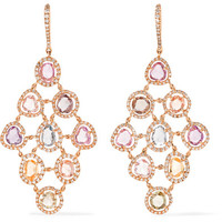Amrapali - Blossom 18-karat gold, sapphire and diamond earrings
