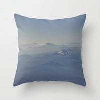 Top of the World Three Throw Pillow by Melissa Lund