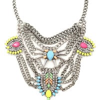 Mindy Vibrant Bib Necklace