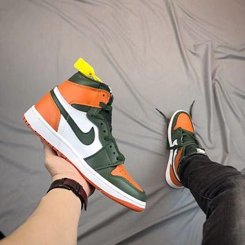Air Jordan 1 Retro - Green/Orange