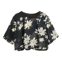 H&M - Cropped Top - Black - Ladies
