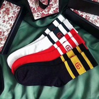 GUCCI Striped Socks Catwalk Socks Catwalk Stockings Stockings