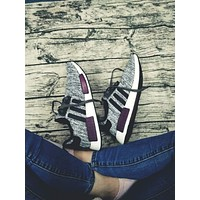 ADIDAS Women Running Sport Casual Shoes NMD Sneakers GREY+Black line