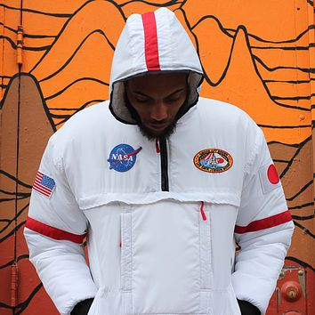 "NASA ""Flight"" Astronaut Down Ski Jacket in White"
