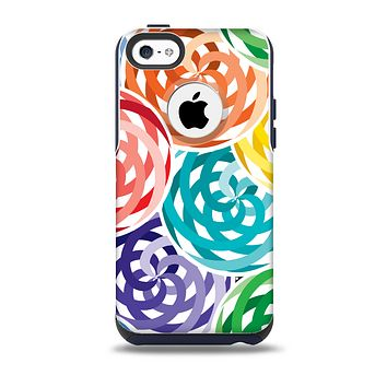 The Colorful Spiral Eclipse Skin for the iPhone 5c OtterBox Commuter Case