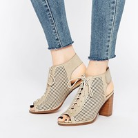 Call It Spring Adreliven Stone Peep Toe Shoe Boots at asos.com