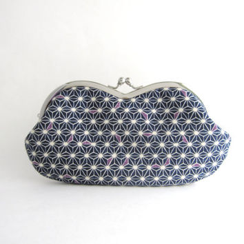 Sunglasses  Case/  Frame Clutch Purse - Asanoha