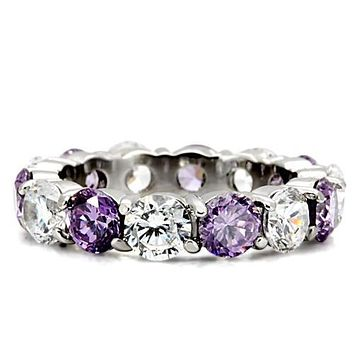 5TCW Millennial Pink - Lavender Russian Lab Diamond Eternity Ring