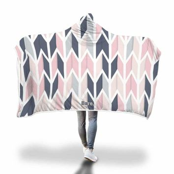 Geometric Hooded Blanket by Bare Culture Apparel