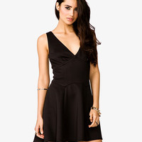 Scuba Knit Flare Dress | FOREVER 21 - 2027861102
