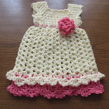 Baby girl dress pattern  6 SIZE 0-24 months infant newborn baby crochet dress  pattern baby girl dress pattern