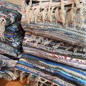 Large Rag Rug Bulk Buy, Store/Boutique Supply, Lot of 4, Chindi Area Rugs, Cotton Colorful Scrap Rugs, Vegan