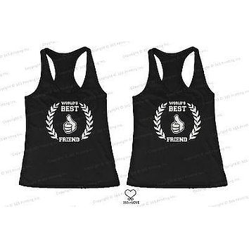 BFF Tank Tops World's Best Friend Matching Shirts for Best Friends