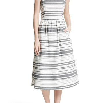 Joie Cabeza Stripe Backless Cotton Sundress | Nordstrom