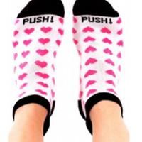 Push! Labor Socks {Pink Hearts}