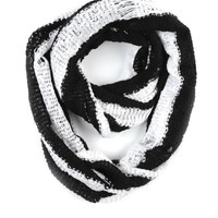 Paula Bianco Striped Infinity Scarf