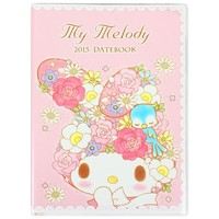 2015 My Melody Schedule Book Monthly Planner Pocket A6 Pink Sanrio + Gift