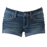 Mudd Frayed Cuff Shortie Shorts - Juniors