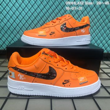 HCXX N146 Nike Air Force 1 Low Retro Just Do It Casual Sneaker Skate Shoes Orange