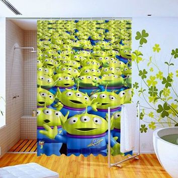Aliens Toy Story Pixar Movie Pattern Art Custom Design Shower Curtain 60x72