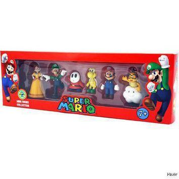 Super Mario party nes switch  Bros PVC Figure Collection Doll Series 2 6pcs/set Characters Nintendo Baby Gifts AT_80_8