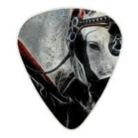 Portrait of a Carriage Horse Pearl Celluloid Guitar Pick