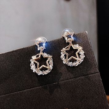 Fashion net red foreign stars stud earrings