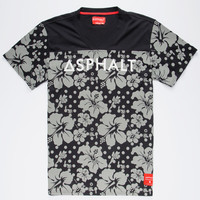 Ayc Reflective Hibiscus Mens T-Shirt Black  In Sizes