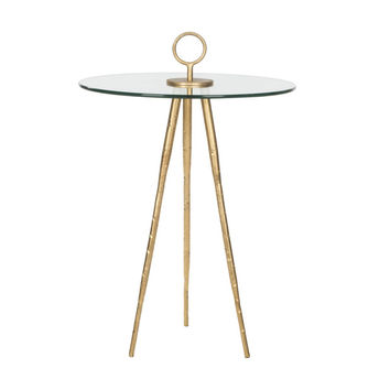 Gold-Leaf Side Table