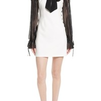 Self-Portrait Lace Sleeve Minidress | Nordstrom