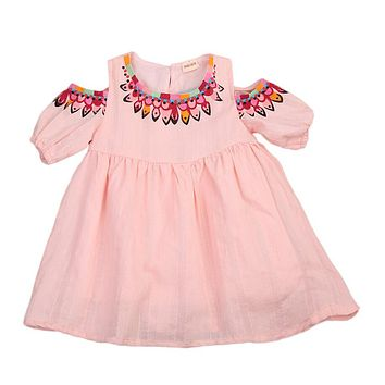 Toddler Kids Baby Girls Dress Short Sleeve Flower Cute Tutu Princess Party Pageant Wedding Tutu Dresses Girl Clothes