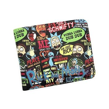 Cartoon Rick And Morty Characters Bifold Wallet