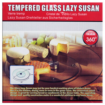 Tempered Glass Lazy Susan: Case of 1
