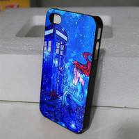 Doctor Who Meets Disney Tardis Ariel Little Mermaid Galaxy Nebula for iphone , samsung galaxy and ipod touch cases