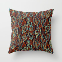 Autumn Leaves (Embers) Throw Pillow by SuchDesign