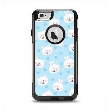 The Subtle Blue & White Faced Cats Apple iPhone 6 Otterbox Commuter Case Skin Set