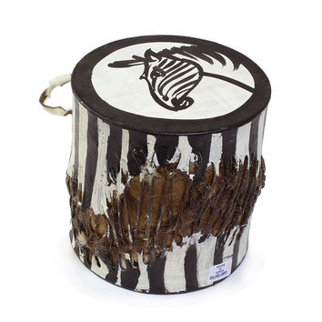 Small African Drum: Zebra