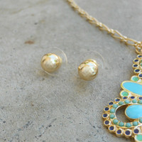 Classic Round Post Earrings [5437] - $7.00 : Vintage Inspired Clothing & Affordable Dresses, deloom | Modern. Vintage. Crafted.