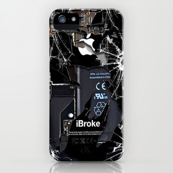 iphone and ipod case Broken, rupture, damaged, cracked black apple iPhone 3, 4 4s, 5 5s 5c, iPod & samsung galaxy s4 case cover