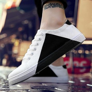 Patchwork Light Canvas Sneakers