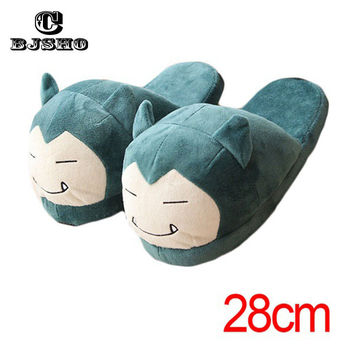 CBJSHO Winter Men Women Pokemon Slippers Elf Ball Pikachu Eevee Umbreon Pokemon Go Plush Shoes Warm House Slippers Children