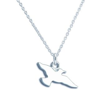 NEWPORT STERLING SILVER SEAGULL NECKLACE