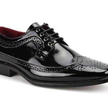 New Men's Tuxi 02 Formal Wing Tip Patent Leather Dress Oxford Shoes