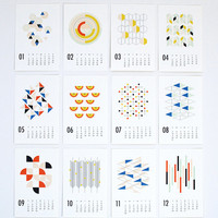 2014 wall calendar - shapes