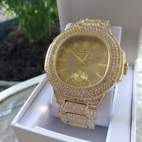 Imperial Micropavé Gold Watch