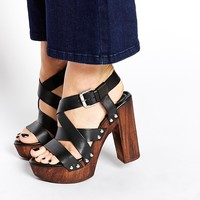 Carvela Kookie Black Suede Heeled Sandals