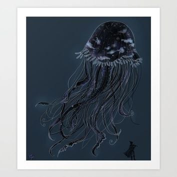 the voidfish Art Print by Equinoxio