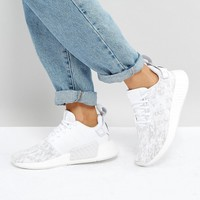 adidas Originals NMD R2 Sneakers In White And Gray at asos.com