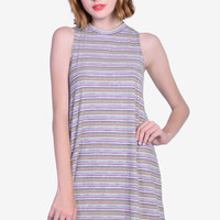 Alyona Striped Tent Dress - Pink